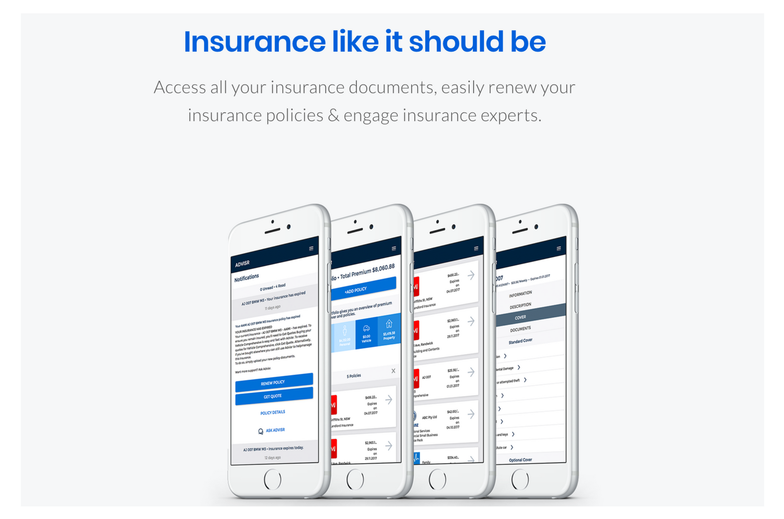 Advisr - Insurance Like It Should Be